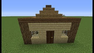 Easy Survival Wooden House/Hut | Speed Builds | TheDiamondGirl