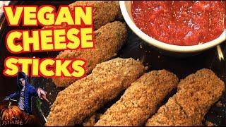 Vegan Mozzarella Sticks in Chefman Air Fryer