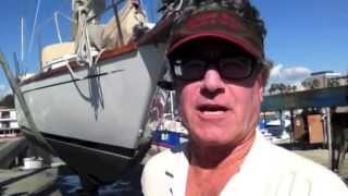 #17 DIY video  How To do a Sailboat Haul Out and Survey