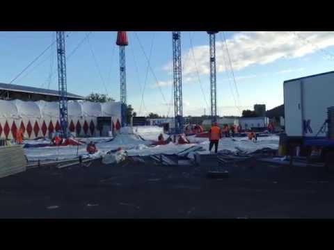 Circus KNIE montage Bern 2014 (1)