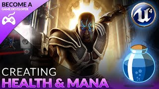 Health & Mana Setup - #3 Creating A Role Playing Game With Unreal Engine 4