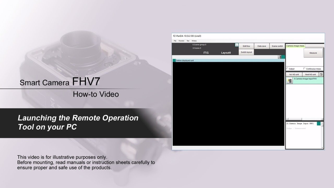 FHV7 How-to Video : Launching the Remote Operation Tool on you PC