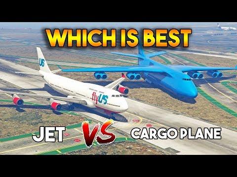 GTA 5 ONLINE : CARGO PLANE VS JET (WHICH IS BEST?)