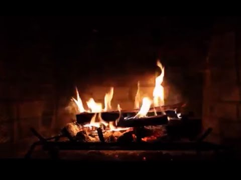 Fireplace with Popular Christmas Classics - YouTube
