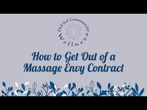 How To Get Out Of A Massage Envy Contract