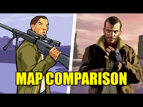 GTA Chinatown Wars vs. GTA IV - Map Comparison