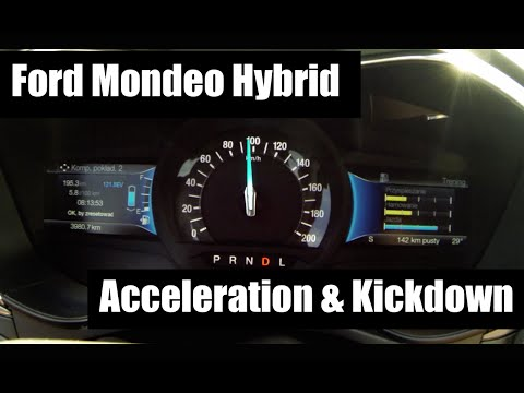 Ford Mondeo Hybrid 2.0 0-100 & 80-120 Acceleration And Kickdown
