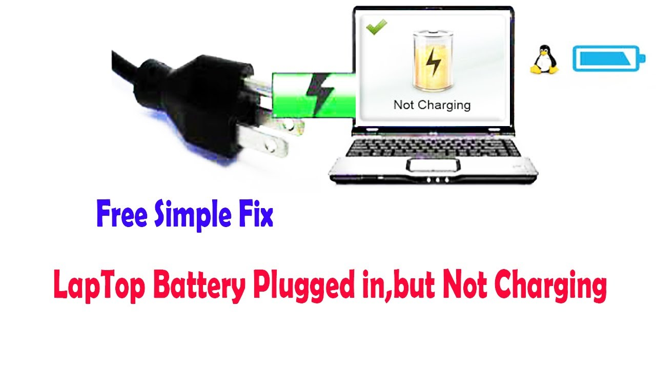 """Laptop battery not charging """"plugged in, not charging"""" how"""