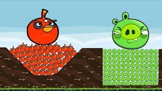 Angry Birds - 9999 PIGGIES INSIDE GOLDEN EGG GOT SHOCKED BY 9999 THUNDER BIRDS!