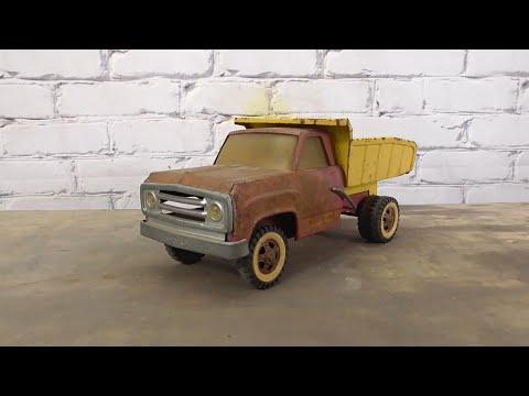 Tonka Truck Restoration. Powder Coating. Sand Blasting. Rusted