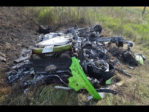 Cмотреть видео Lamborghini Crashes-Аварии Lamborghini Жесть 18