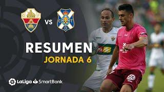 Resumen de Elche CF vs CD Tenerife (1-1)