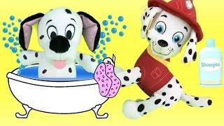 vuclip Patrulla canina juguetes español BAÑAMOS AL NUEVO BEBE CACHORRO PAW PATROL DE MARSHALL