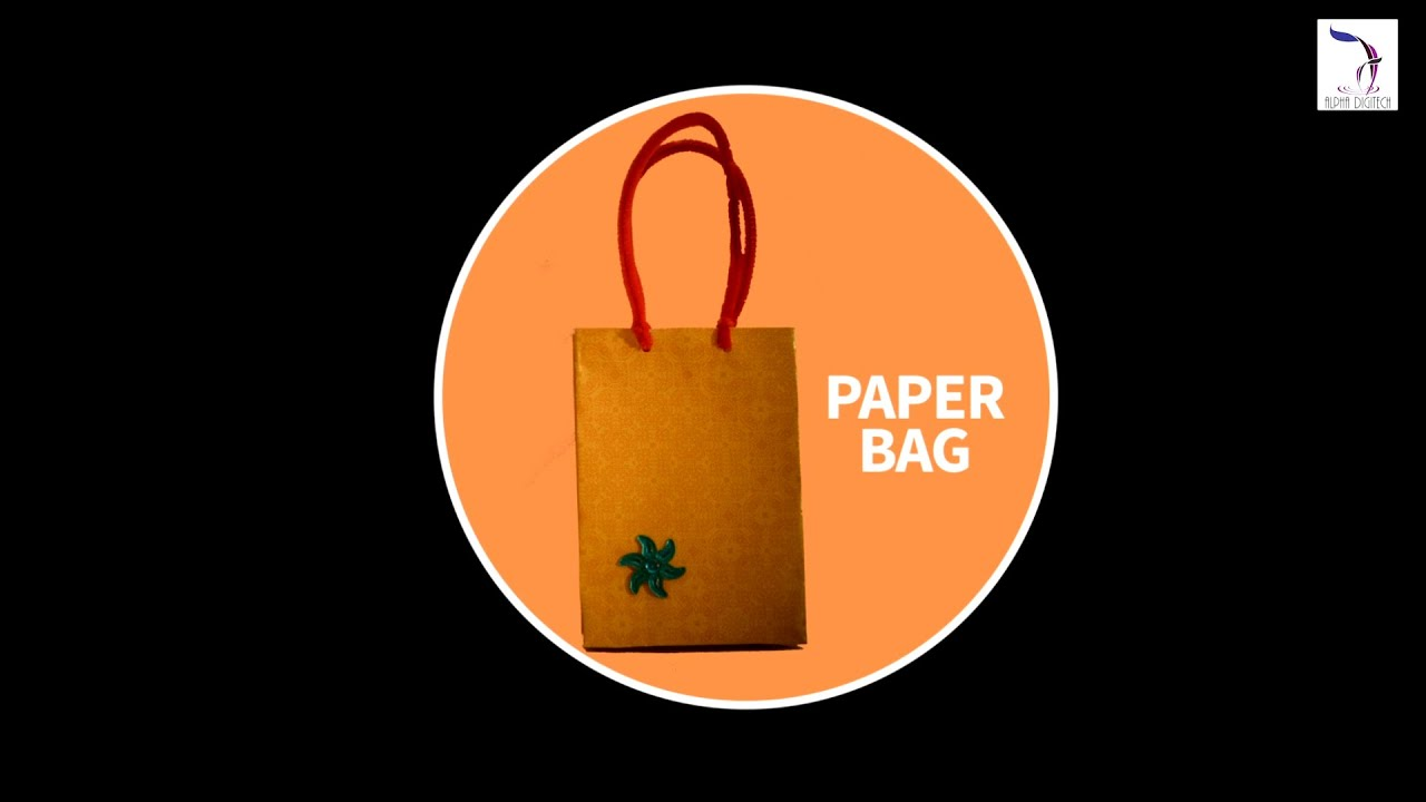 Diy paper bag best out of waste hand made bags youtube for Handmade best out of waste