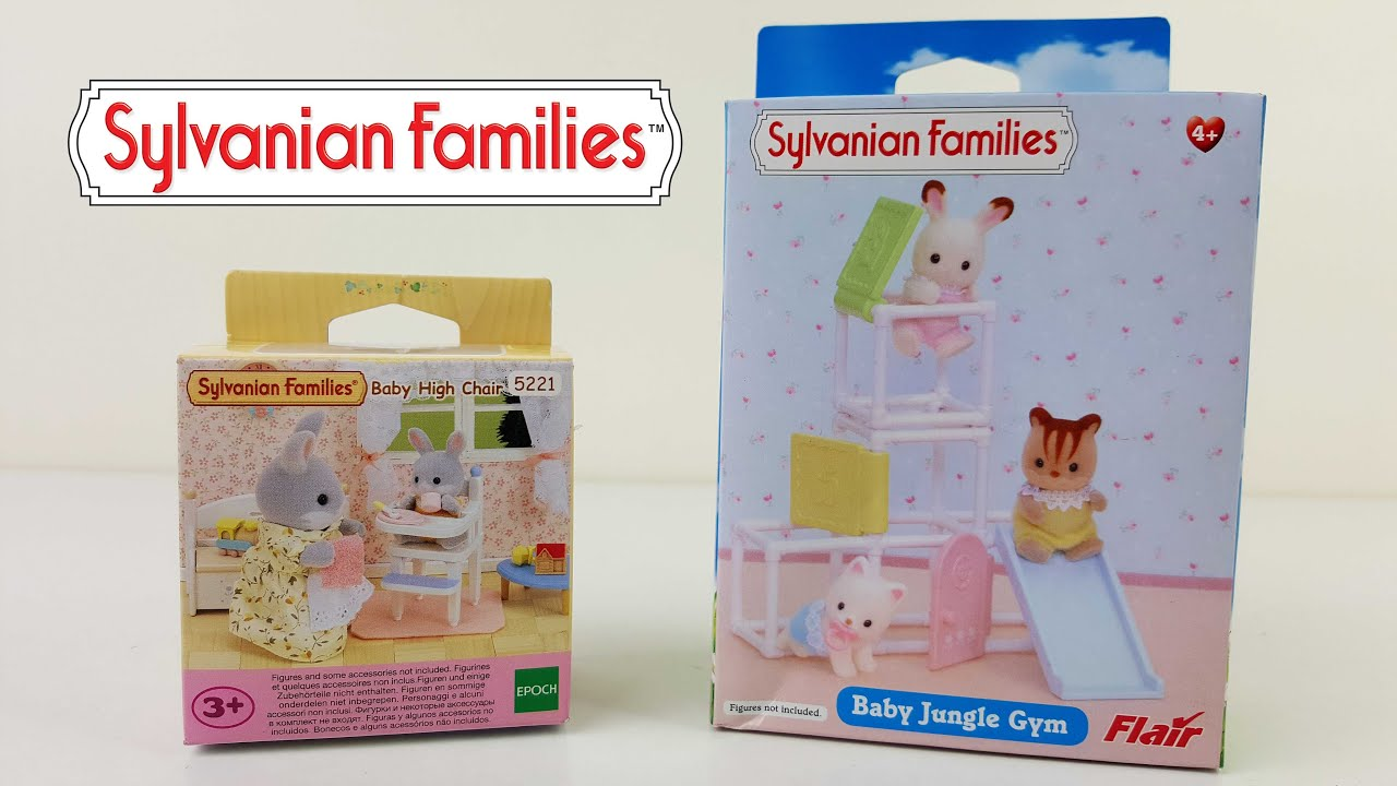 Sylvanian Families Baby High Chair & Baby Jungle Gym