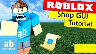 Roblox Shop GUI Tutorial - Buy Items with Currency