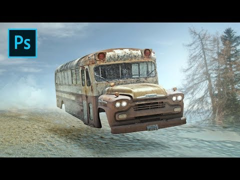 Photoshop Manipulation Tutorial | Soft Light Color Effects - Ghost Bus