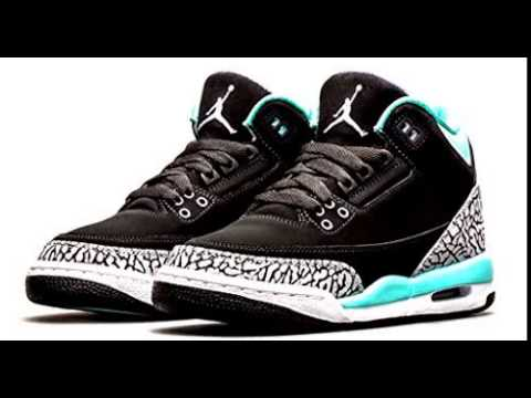 Nike Girls Air Jordan 3 Retro (GS) Kids Black/Bleached