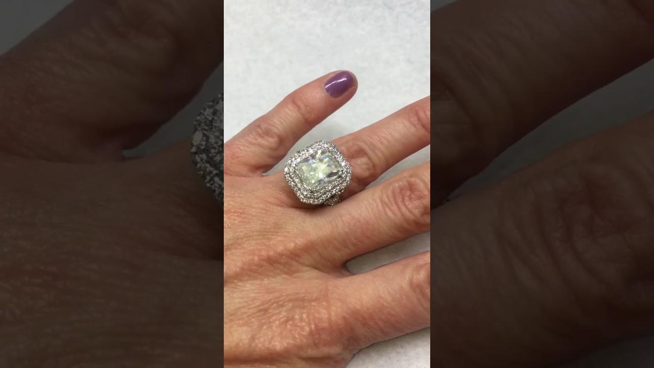 ER 525518 7 Carat Radiant Cut Diamond Engagement Ring YouTube