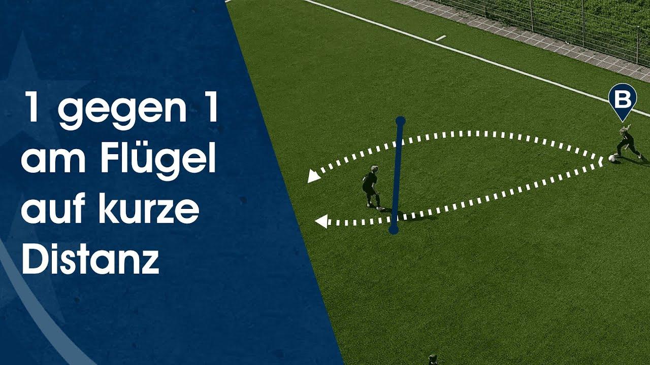 1 gegen 1 am Flügel – Fußballtraining am Deutschen Fußball Internat
