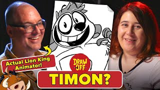 Animator Vs. Cartoonist Draw Lion King Characters From Memory • Draw-Off