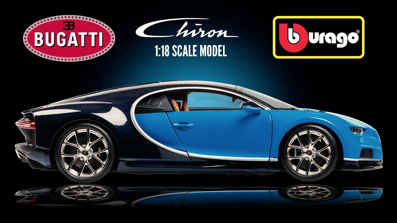 1 18 scale bugatti chiron bburago 18 11040 youtube. Black Bedroom Furniture Sets. Home Design Ideas