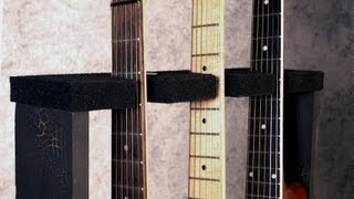 DIY Wood Guitar Stand - You Can Build