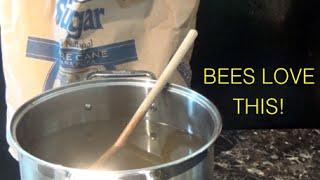 beekeeping sugar water syrup feed for bees secret ingredient
