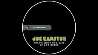 Joe Garston - That