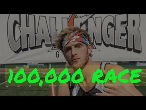 Logan Paul Challenger Games 100,000 Race FULL EVENT | WHO IS THE FASTEST|