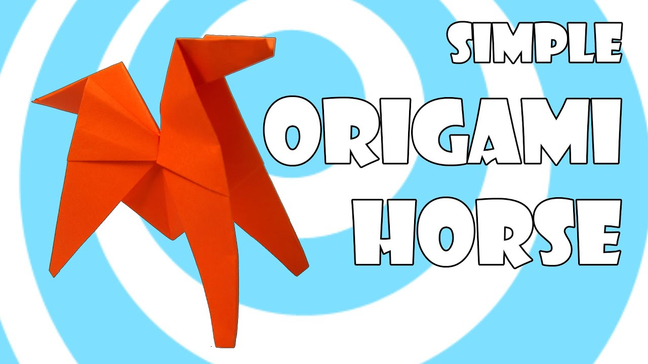 Simple Origami Horse Pony Tutorial Youtube
