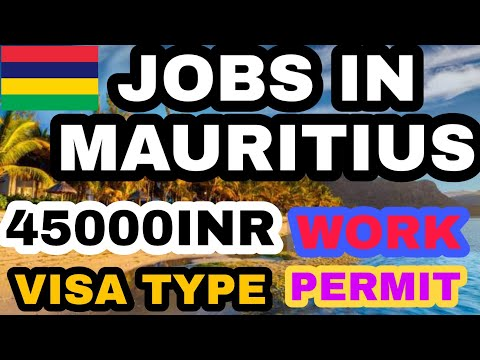 MAURITIUS JOB VACANCY 2020 | MAURITIUS JOB FOR INDIAN | Get Mauritius Job With Attractive Salary