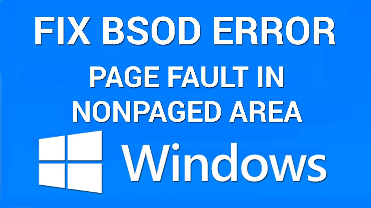 Bluescreen Page_fault_in_nonpaged_area