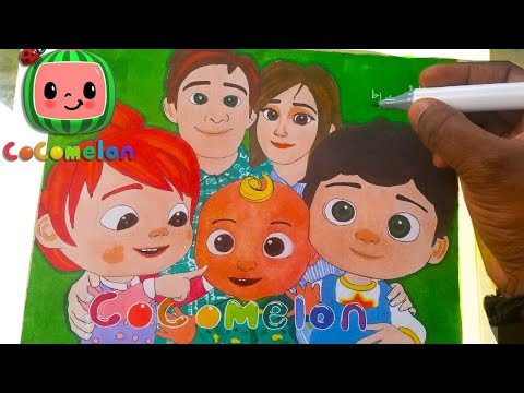 How To Draw Cocomelon Logo And Characters Youtube