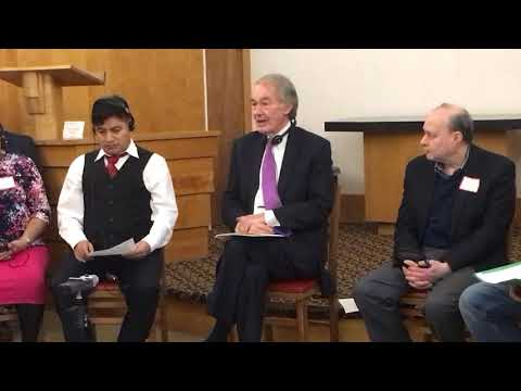 Sen. Ed Markey visits Lucio Perez, immigrant defying deportation order in Amherst church