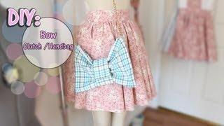 ✂how To Make Bow Clutch/handbag ♡beginner/intermediate