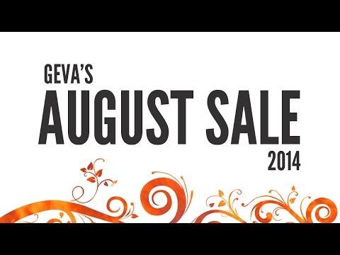 2014 Geva's August Sale