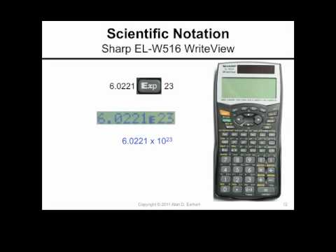 Scientific Notation And The Sharp El W516 Writeview Calculator Youtube