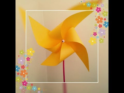 How To Make A Paper Pinwheel / Toy Paper Windmill Kids Craft