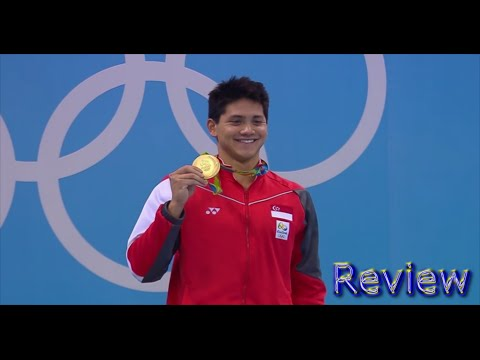 Joseph Schooling of Singapore UPSETS MICHAEL PHELPS in 100m Butterfly WINS GOLD Rio 2016 Review