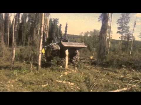 John Deere, Waratah And Madill  Forestry Equipment Logging In Alberta