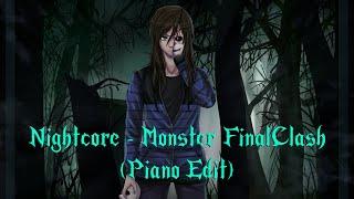 Nightcore - Monster FinalClash (Piano Edit) Darkviktory feat. Paperblossom [Lyrics]