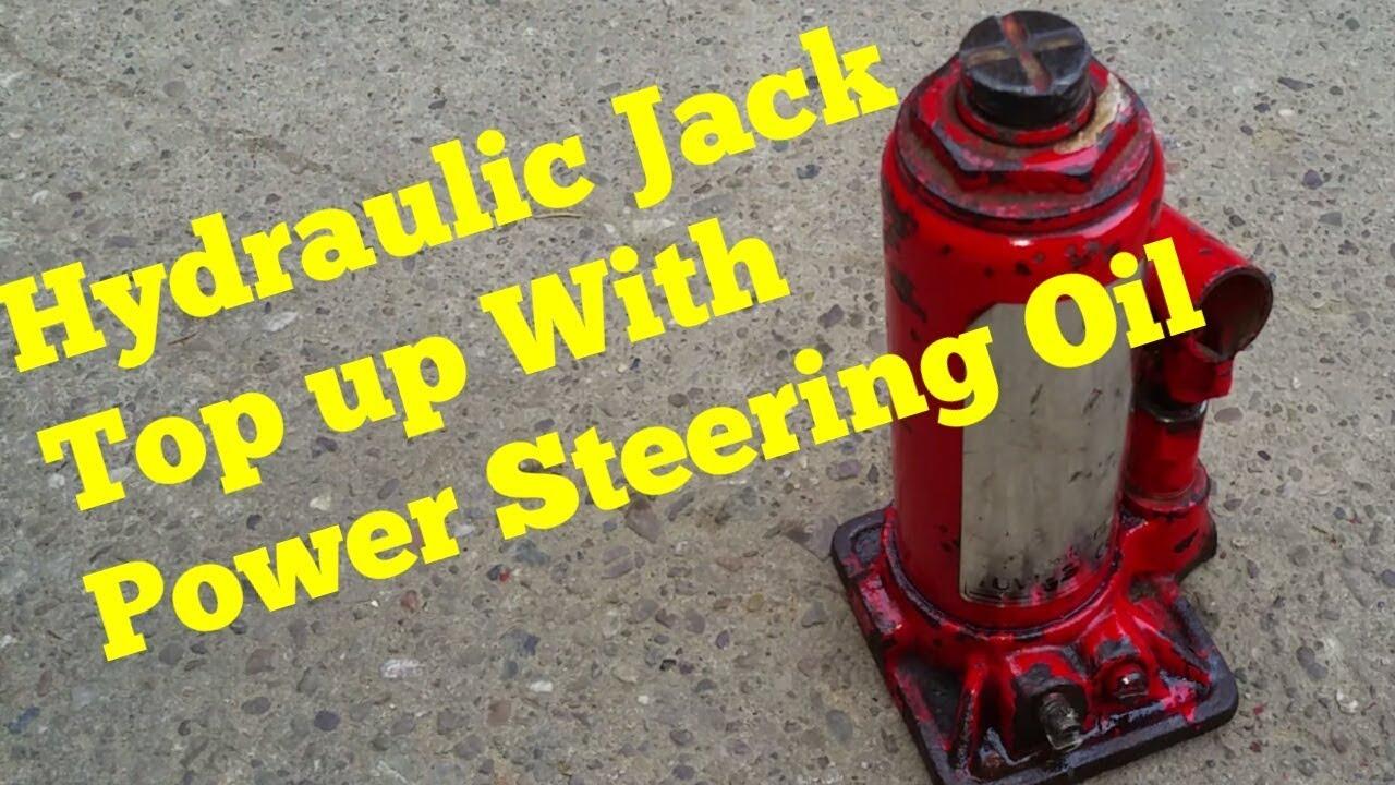 Hydraulic Bottle Jack Oil Top Up Using Power Steering Fluid(works great)
