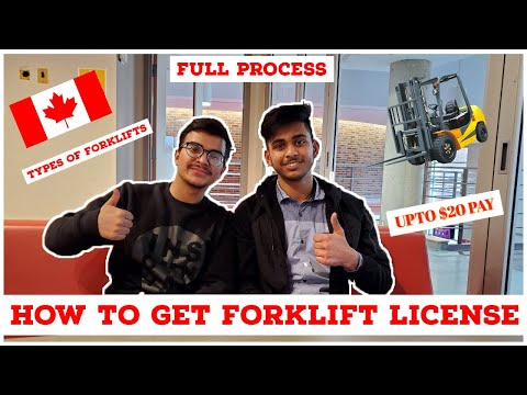 HOW TO GET FORKLIFT LICENSE IN CANADA | HIGH PAY RATE JOB | EXPERT SERIES