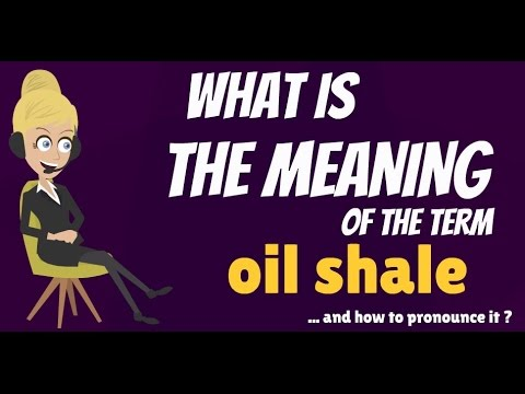 What is OIL SHALE? What does OIL SHALE mean? OIL SHALE meani