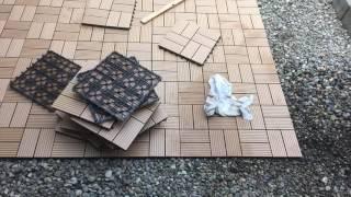 庭に 人工木ウッドパネルを敷いてみました! thumbnail