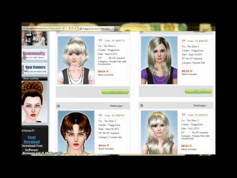peinados peggy zone gratis para sims 3