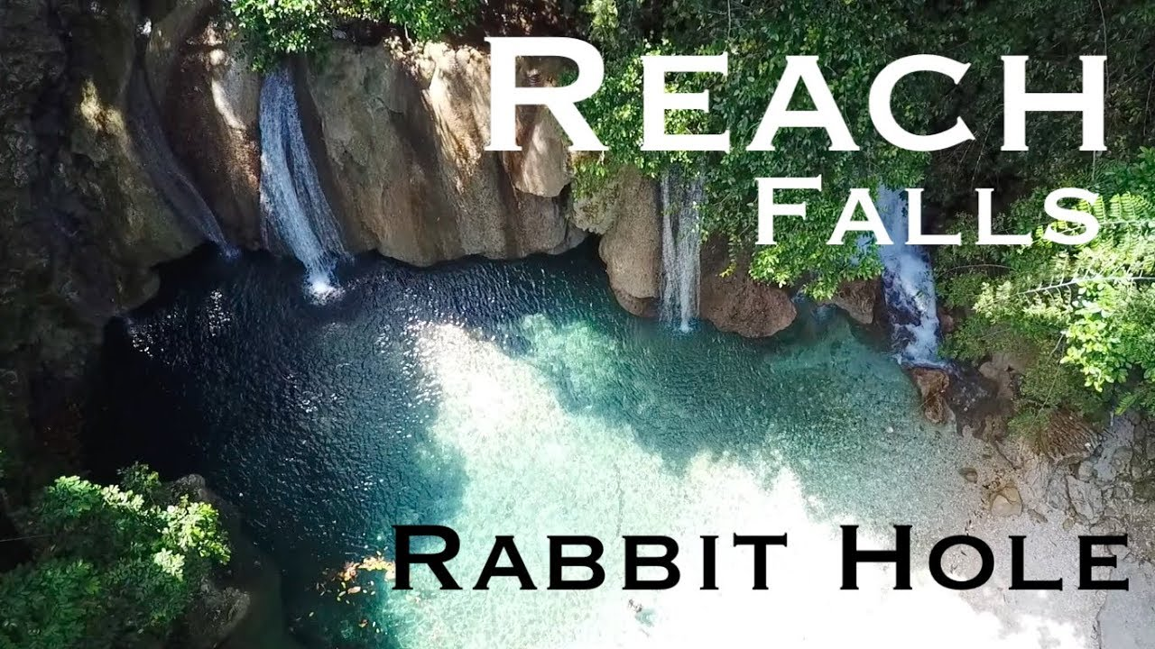 Aerial Footage Of Reach Falls And Rabbit Hole