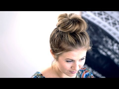 How to get short hair into a messy bun