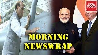 Morning Newswrap : Rajnath Singh Hits Back At Cong For Puja Politics | Modi-Xi To Meet Today